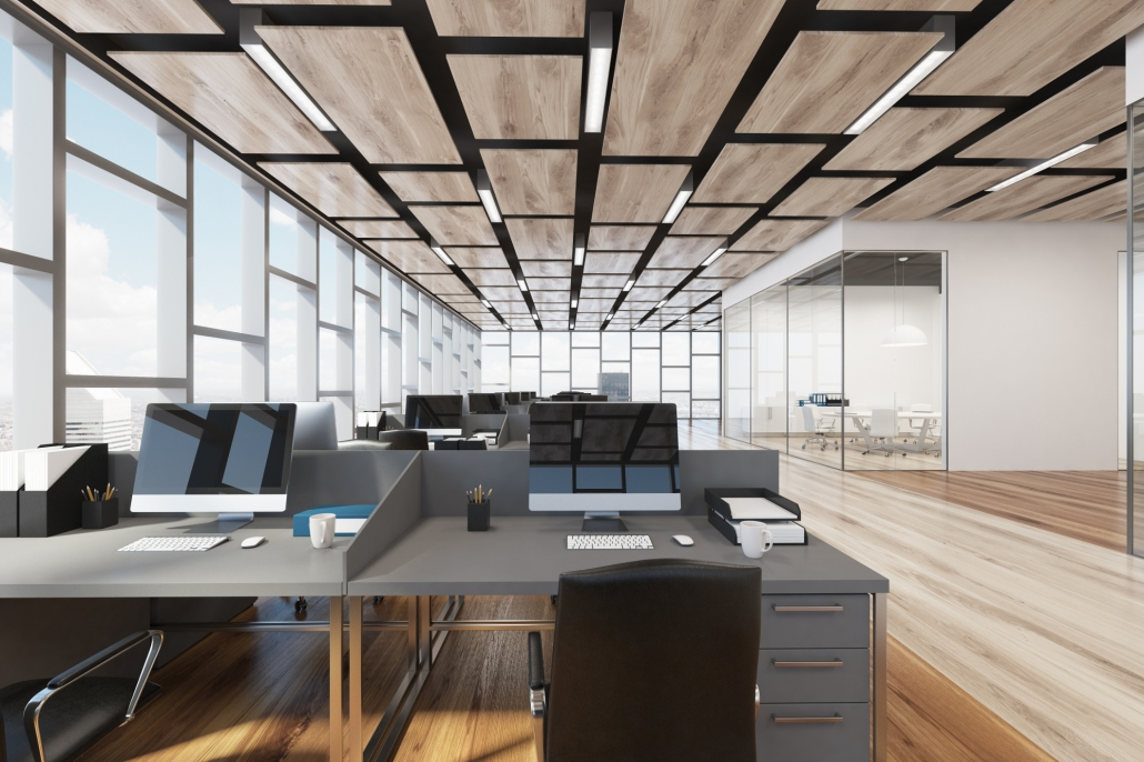 Lichtdurchfluteter Büroraum